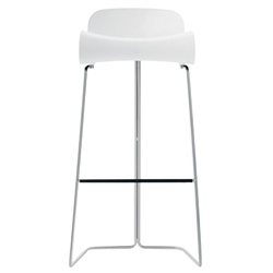 arango - bcn bar stool - white