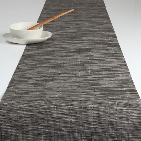 Arango Bamboo Table Runner 14x72 Grey Flannel