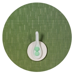 "bamboo round placemats - 15"" lawn green"