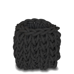 quadrat black basket - small