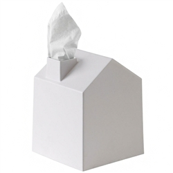 casa tissue box - white
