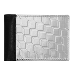 bi-fold wallet - black/stainless steel 3D box