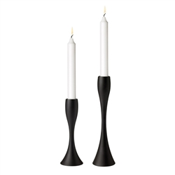 reflection candleholder - black - 6.7 in