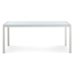 skiff outdoor collection - rectangular glass-top table