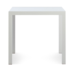 skiff outdoor collection - square glass-top table
