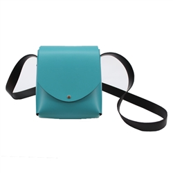 arango - italian shoulder bag- teal