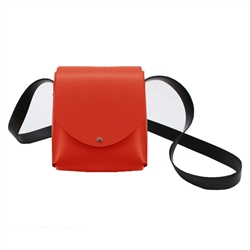 arango - italian shoulder bag- red