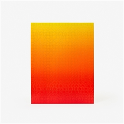 gradient puzzle - red/yellow large