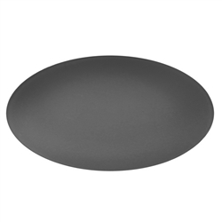 "seaglass collection - oval 19""x12"" platter graphite"
