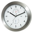 aluminum weather wall clock - white