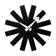 asterisk clock - black