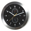 aluminum weather wall clock - black