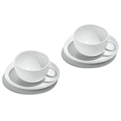 fruit basket tea service - teacups set of 2