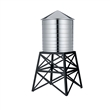 water tower container - stainless steel / black
