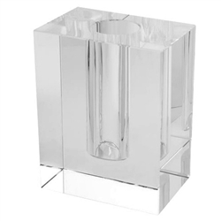 crystal vase - rectangular