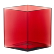 ruutu vase - wide cranberry
