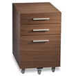 sequel low file pedestal - walnut