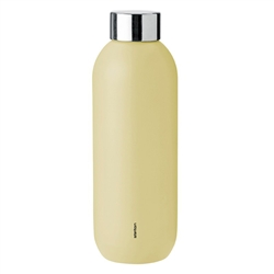 keep cool thermal bottle - soft yellow
