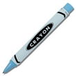 crayon rollerball pen - light blue